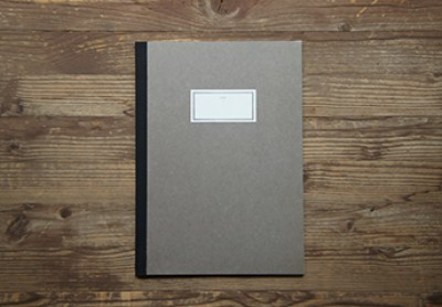 STITCH NOTEBOOK(L)_brown