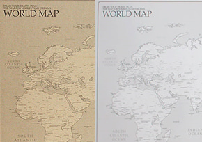 WORLD MAP ver.SET (white+kraft 2pcs)