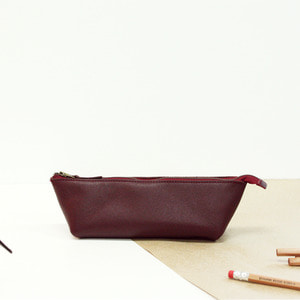 LEATHER PENCIL CASE ver. BURGUNDY