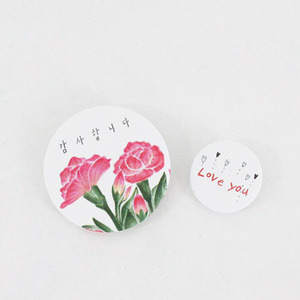 PIN BUTTON_CARNATION
