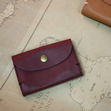 LEATHER CARD CASE ver. BURGUNDY